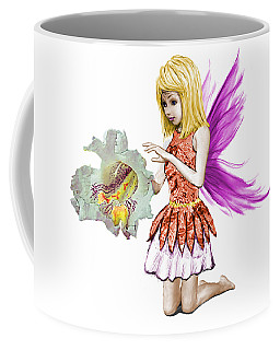 Catalpa Tree Fairy Holding Flower Coffee Mug