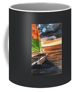 Catamaran At Sunset Coffee Mug