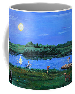 Catching Fireflies By Moonlight Coffee Mug