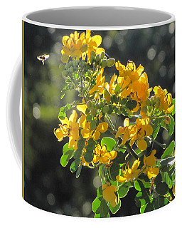Catchlight Bee Over Yellow Blooms Coffee Mug