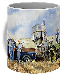 Coffee Mug featuring the painting Catesby Cuttin' 1938 by Sam Sidders