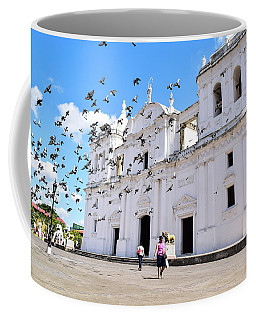 Coffee Mug featuring the photograph Cathedral Of Leon by Nicole Lloyd