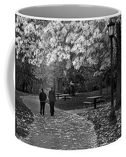 Cathedral Park In Fall Bw Coffee Mug