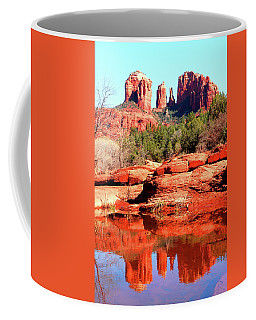 Coffee Mug featuring the photograph Cathedral Reflections 2 by Howard Bagley