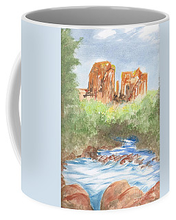 Coffee Mug featuring the painting Cathedral Rock 2,  Sedona, Az. by Reed Novotny
