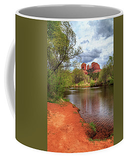 Coffee Mug featuring the photograph Cathedral Rock From Oak Creek by James Eddy