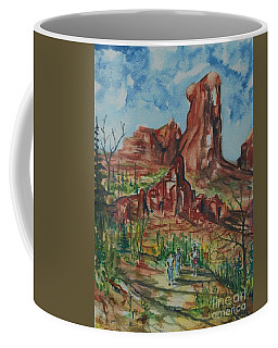 Hiking Cathedral Rock,  Sedona, Az. Coffee Mug