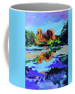 Coffee Mug featuring the painting Cathedral Rock - Sedona by Elise Palmigiani