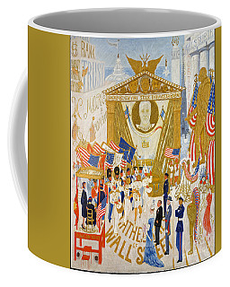 The Cathedrals Of Wall Street - History Repeats Itself Coffee Mug by John Stephens