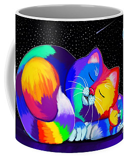 Coffee Mug featuring the drawing Catnaps For Two by Nick Gustafson