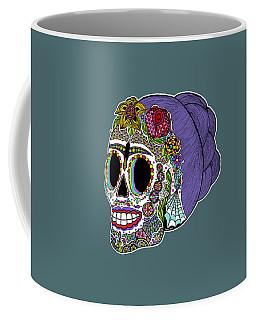 Coffee Mug featuring the drawing Catrina Sugar Skull by Tammy Wetzel
