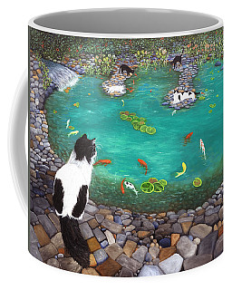 Cats And Koi Coffee Mug