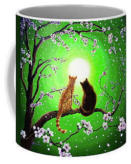 Cats On A Spring Night Coffee Mug by Laura Iverson
