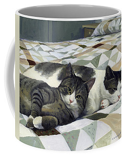 Cats On The Quilt Coffee Mug