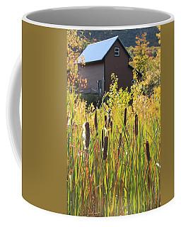 Cattails And Barn Coffee Mug