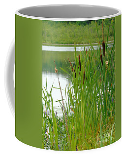 Cattails And Still Water Coffee Mug