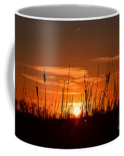 Cattails And Twilight Coffee Mug by Kathy M Krause