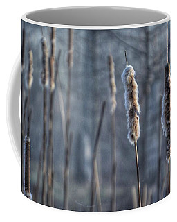 Coffee Mug featuring the photograph Cattails In The Winter by Sumoflam Photography