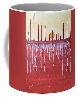 Cattails Original Painting Sold Coffee Mug by Sol Luckman