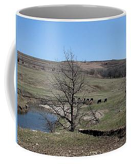 Cattle Along Deep Creek Coffee Mug