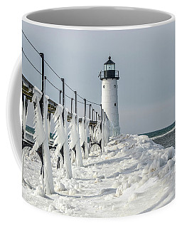 Coffee Mug featuring the photograph Catwalk With Icy Fringe - Horizontal Version by Sue Smith