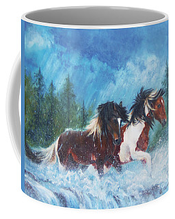 Caught In The Rain  Coffee Mug by Karen Kennedy Chatham