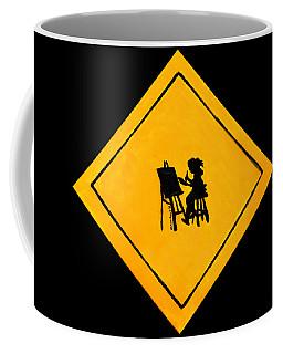 Caution Artist At Play Coffee Mug
