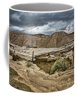 Caution - Steep Cliffs - Toadstool Geologic Park Coffee Mug