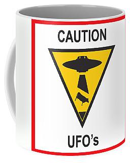 Caution Ufos Coffee Mug