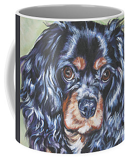Cavalier King Charles Spaniel Black And Tan Coffee Mug