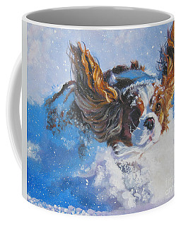 Cavalier King Charles Spaniel Blenheim In Snow Coffee Mug