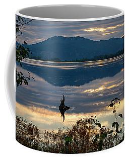 Cave Lake Sunset Coffee Mug