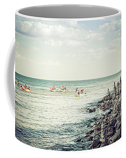 Cave Point Rock Formations Coffee Mug