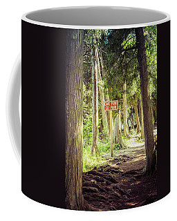 Cave Point Trails Coffee Mug