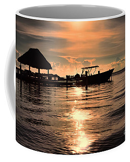 Coffee Mug featuring the photograph Caye Caulker At Sunset by Lawrence Burry