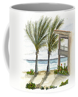Coffee Mug featuring the digital art Cayman Hotel by Darren Cannell