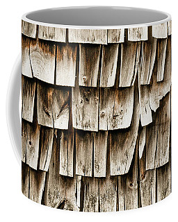 Cedar Shingles Pattern Coffee Mug by Edward Fielding