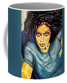 Coffee Mug featuring the painting Celebrating Beautiful Sierra Leone Women - Varsha Kamara - Arizona - Usa by Mudiama Kammoh