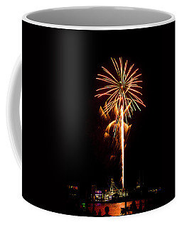 Coffee Mug featuring the photograph Celebration Fireworks by Bill Barber