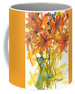 Celebration Of Sunflowers Watercolor Painting By Kmcelwaine Coffee Mug