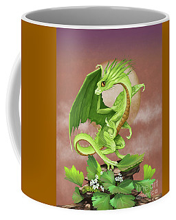 Coffee Mug featuring the digital art Celery Dragon by Stanley Morrison