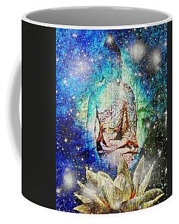 Coffee Mug featuring the digital art Celestial Buddha by Absinthe Art By Michelle LeAnn Scott