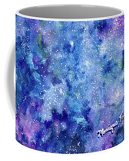 Coffee Mug featuring the painting Celestial Dreams by Monique Faella