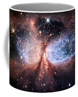 Coffee Mug featuring the photograph Celestial Snow Angel - Enhanced - Sharpless 2-106 by Adam Romanowicz