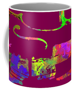 Coffee Mug featuring the mixed media Cello by David Millenheft
