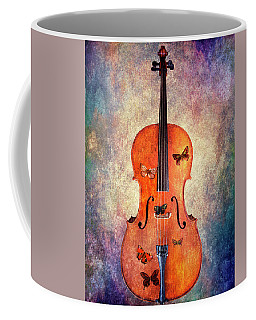 Cello With Butterflies Coffee Mug