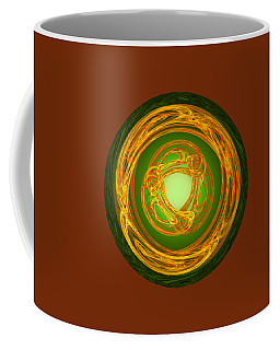Coffee Mug featuring the digital art Celtic Abstract On Green by Jane McIlroy