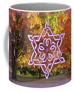 Celtic Hexagram Rose In Lavandar Coffee Mug