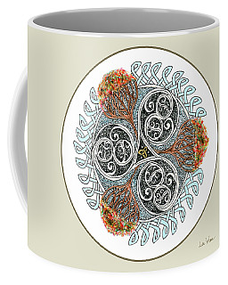 Celtic Inspired Button Coffee Mug