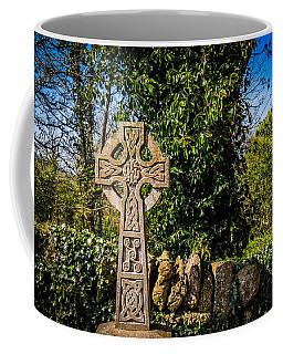 Celtic Knots Decorate A Celtic Cross Coffee Mug